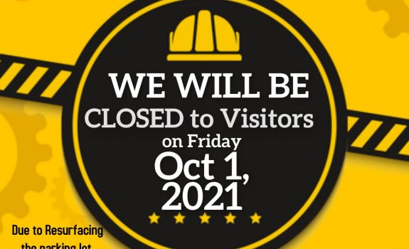 Office Closed to the Public on Friday, October 1, 2021
